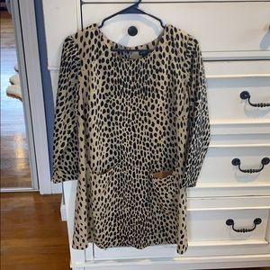 J.Crew leopard shift dress (Sz6)